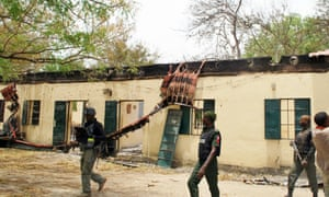 The Chibok school from where more than 200 schoolgirls were abducted by Boko Haram Islamists.