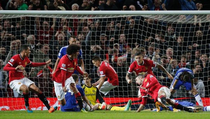 Van Persie is so delirious he can't even stay upright.