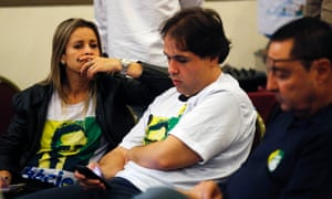 Supporters of Aécio Neves