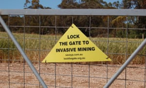 Lock the gate sign