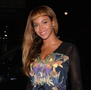 Beyonce at Harry's Bar last week