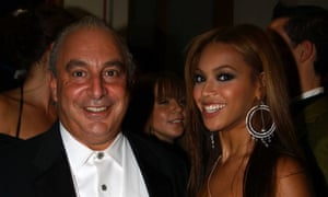 Beyonce with Topshop CEO Philip Green in 2005