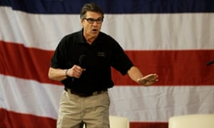 Texas Governor Rick Perry at a fellow Republican's campaign event.