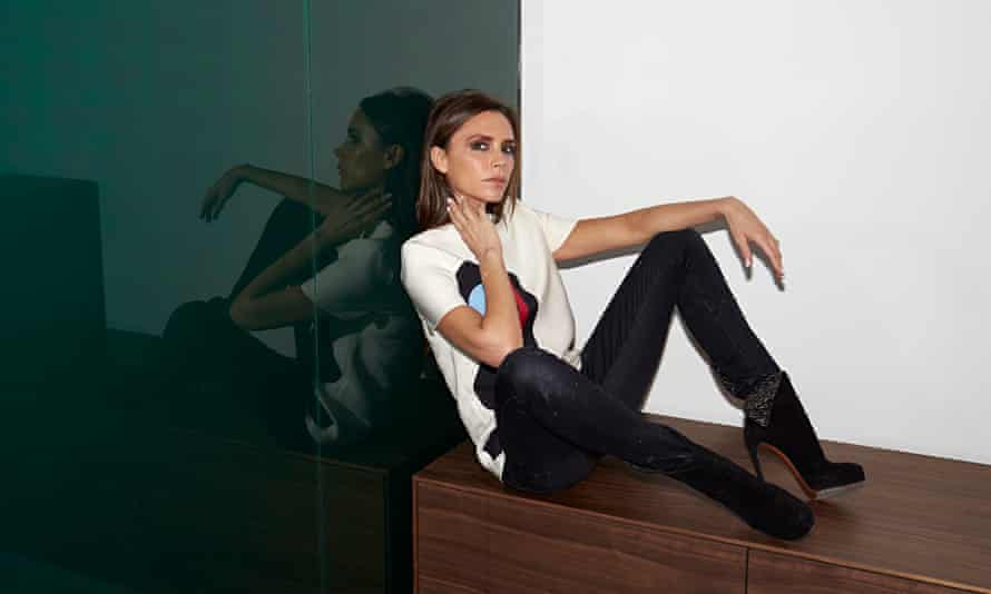 Victoria Beckham at her Dover Street store