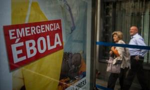 Ebola advert warning Spain