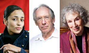 Zadie Smith, Ian McEwan and Margaret Atwood