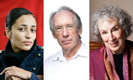 Zadie Smith, Ian McEwan and Margaret Atwood