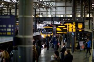 Journey's end: Leeds railway station