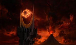 Evil vision … Eye of Sauron and Mount Doom.