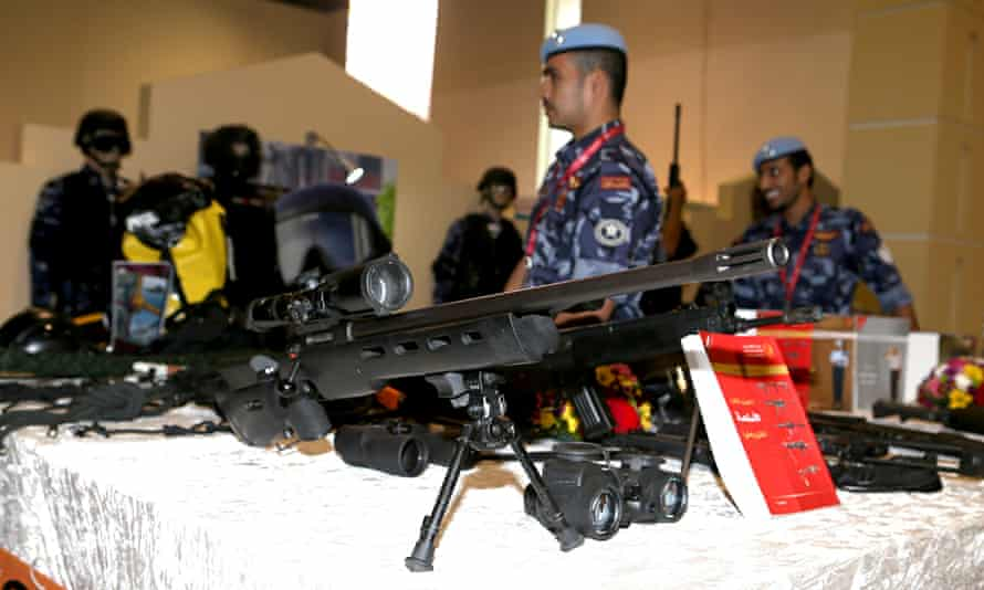 Gun exhibited at Milipol Qatar 2014