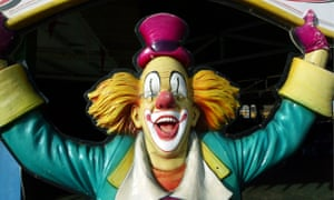 Model of a clown. Fake clowns are terrorising communities in France