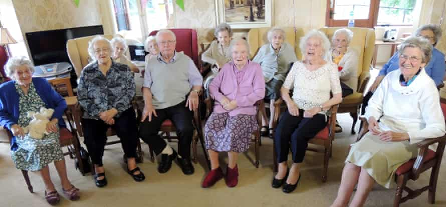 Residents at Norton House practise for their Care Home Idol performance.