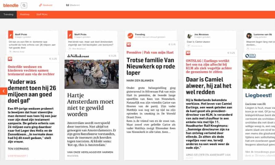 Blendle: an online newspaper kiosk