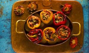 Vegetarian Stuffed Peppers Anissa Helou