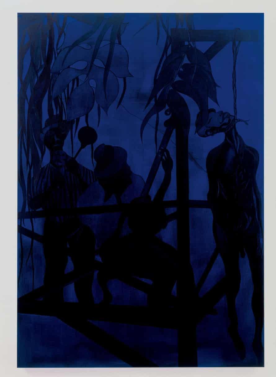 Chris Ofili, Iscariot Blues, 2006.