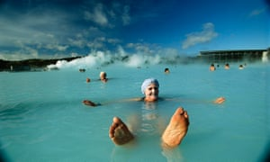 Woman in Blue Lagoon, Iceland