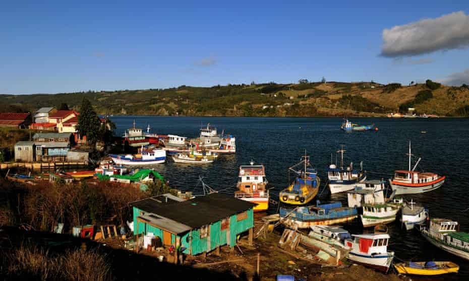 Dalcahue harbour, Chile
