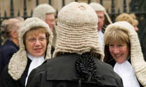 Women judges on their way to the lord chancellor's breakfast, 2006