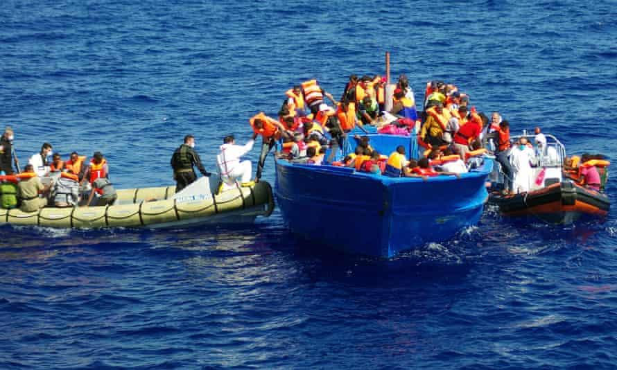 Italian navy rescue