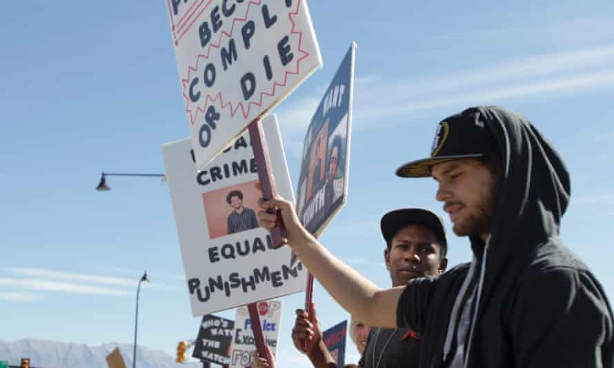 Darrien Hunt protest