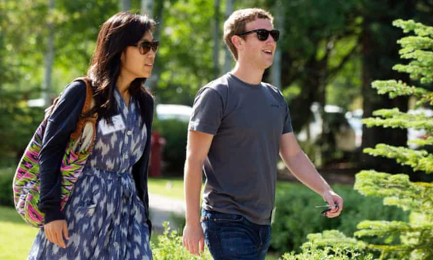 Facebook's Mark Zuckerberg with Priscilla Chan