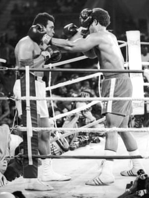 After a number of rounds, though Foreman kept throwing punches and coming forward, the rope-a-dope seemed to be working as Foreman looked increasingly worn out
