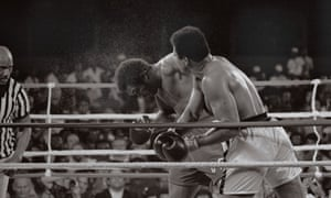 The tired Foreman's face became increasingly damaged hard fast jabs and crosses by Ali.  Foreman was staggered by an Ali combination at the start of the fourth round and again several times near the end of the fifth