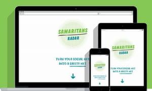 Samaritans Radar is a web app that works across various devices.