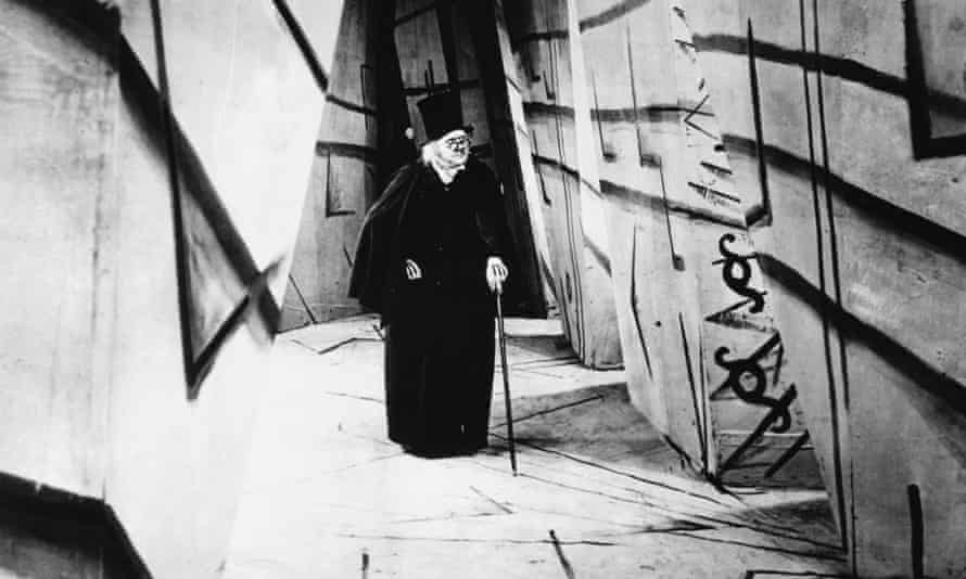 Werner Krauss as Caligari in the silent horror film The Cabinet of Dr Caligari.