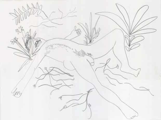 Paul McCarthy, from the series Étant donnés White Snow Walt Paul Drawings