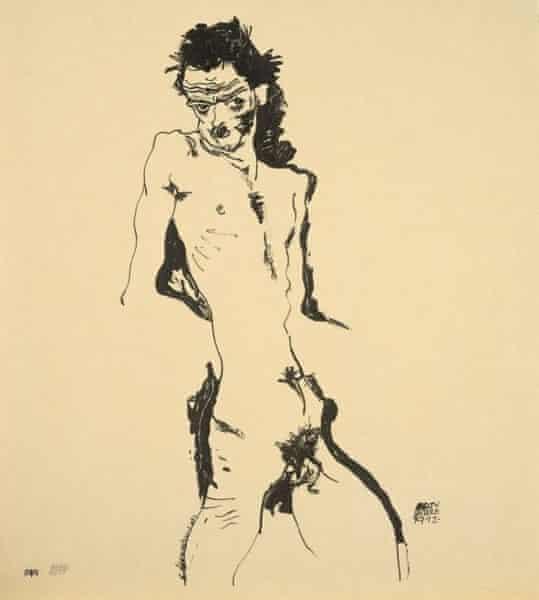 Egon Schiele Self-Portrait 1917
