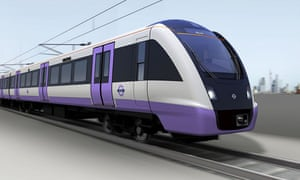 How a Crossrail train might look.