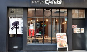 'White walls, wooden tables and bored-looking waitresses': Ramen Sasuke.