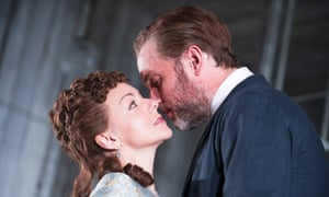 Psychological drama ... Sheridan Smith and Daniel Lapaine in Hedda Gabler at the Old Vic.