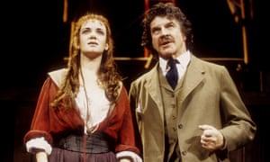 Victoria Hamilton and Alan Bates in The Master Builder at Theatre Royal Haymarket.