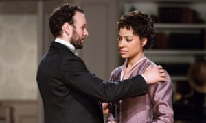 David Sturzaker and Cush Jumbo in A Doll's House at the Royal Exchange Theatre.