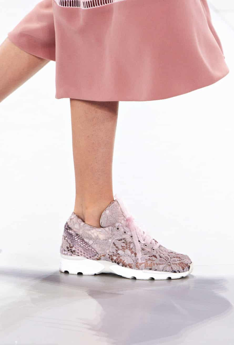 Trainers on the Chanel catwalk