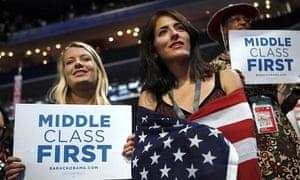 US Money middle class flag