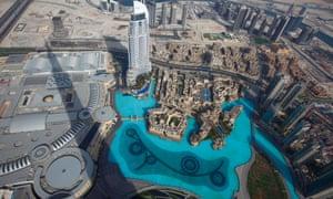 Dubai, UAE, seen from the Burj Khalifa skyscraper.