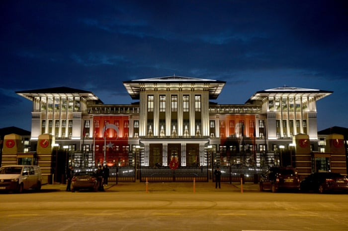 The palace has been built inside Ataturk Forest Farm on the outskirts of Ankara.