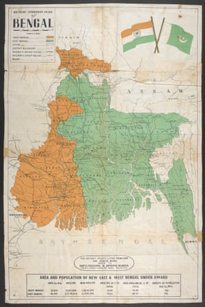 1947: The Partition of India map