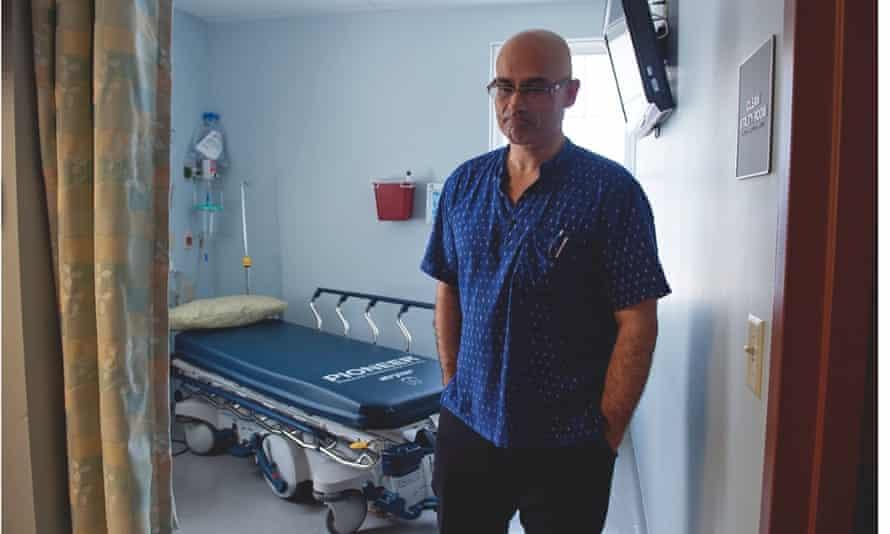 Richard Kaul in a hospital room