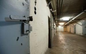 Underground cells at the former Stasi prison at Hohenschönhausen.