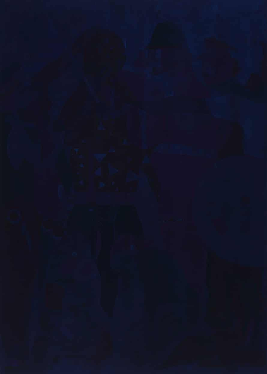 Chris Ofili, Blue Devils.