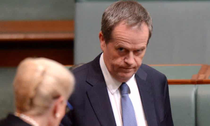 Bill Shorten in parliament.