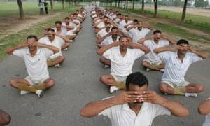 India police yoga meditation