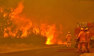 January 2013 was Australia's hottest month on record, beginning a year that become the country's warmest since records began.Firefighters battle a blaze near a caravan park in Victoria in January 2013.
