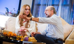 Lindsay Lohan (Karen) and Richard Schiff (Bobby Gould) in Speed-The-Plow.
