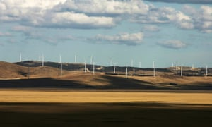 The Lake George Capital Wind Farm near Canberra, which Joe Hockey has called 'utterly offensive'.