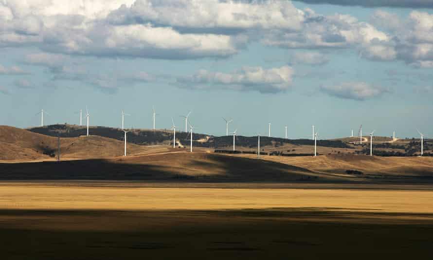 The Lake George Capital Wind Farm near Canberra, which Joe Hockey has called 'utterly offensive'.